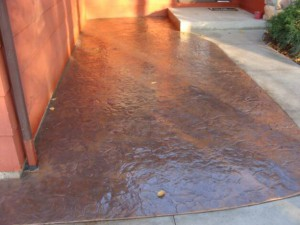 Decorative Concrete Patio by Templin Concrete Construction