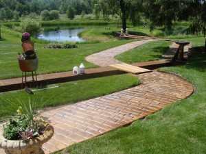Stamped Concrete Sidewalk by Templin Concrete Construction
