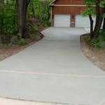 Concrete Driveway - 2 Car Garage