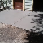Concrete Garage Floor Outdoors
