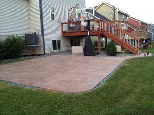 Concrete patios are great for the summer