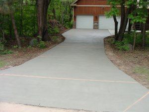 concrete driveway from Templin Concrete Construction